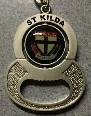 AFL St Kilda Saints KEYRING Bottle Opener KEY CHAIN LOGO FOOTBALL New