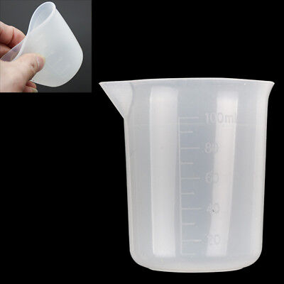100ml Measuring Cup Silicone Resin Glue Tool DIY Practical Good Grips Squeeze
