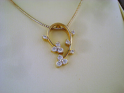 Collier 750 Gold 10 Brillanten insg  ca. 0,30 ct Collana Oro 18K ca. 6,4 g.