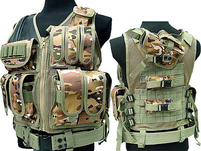 Tactical 045 Molle Combat Vest Magazine Pouch Airsoft Paintball Military CP