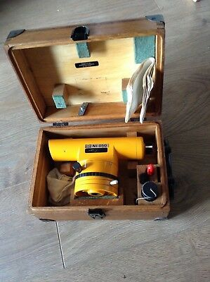 Carl Zeiss Jena Ni050 Survevying Level With Wooden Case & Accessories