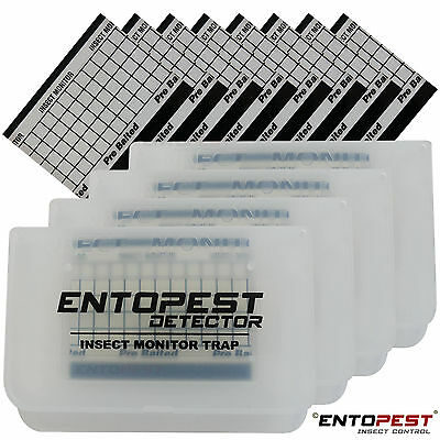 4 Crawling Insect Detector Catcher Trap - Cockroach Ant Spider Beetle Silverfish