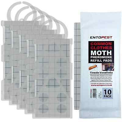 Entopest 5 x Professional Common Clothes Moth Traps + 10 x Pheromone Glue Boards