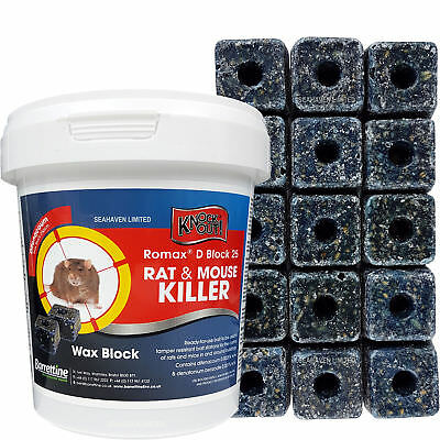 1000g/1kg RAT & MOUSE Killer Blocks POISON for Control of Rodents - PRO STRENGTH