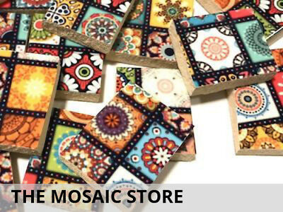 Handmade Patterned Ceramic Tiles - Mosaic Tiles Art Craft Supplies
