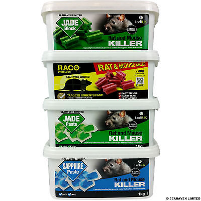 Raco / Jade Strong Rat & Mouse Killer Poison Control - Block Or Paste Bait
