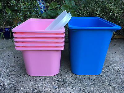 Ikea Trofast Plastic Containers/Boxes x 6 with Lids