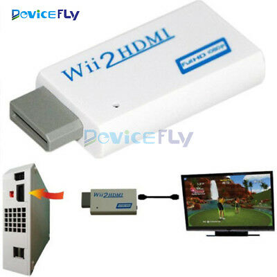 Wii2HDMI Converter Adapter Wii To HDMI 3.5mm Audio Video HD Upscaling 720P/1080P