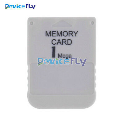 Memory Card For Playstation 1 One PS1 PSX Game useful practical Affordable White