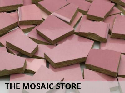 Pink Irregular Ceramic Tiles for Mosaic Art & Craft Tiles Supplies
