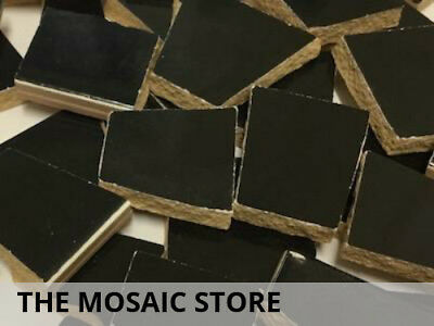 Black Irregular Ceramic Tiles for Mosaic Art & Craft Supplies