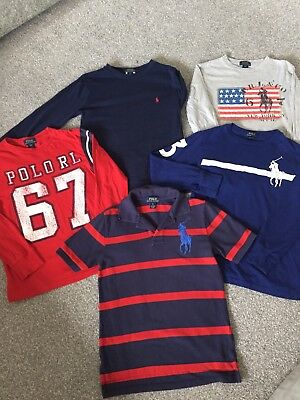 Boys Ralph Lauren Polo Bundle Tops Age 8 Years