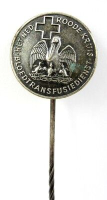Vintage Old Dutch Red Cross Blood transfusion service badge stickpin