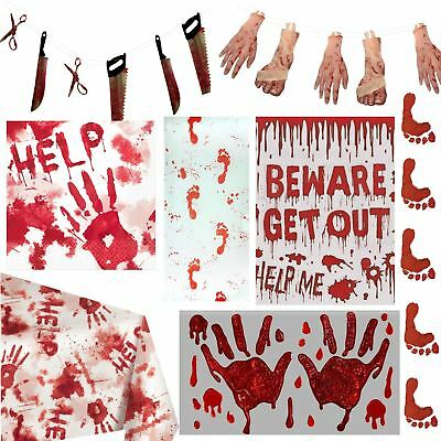 Halloween Bloody Party Decorations Props Blood Splatter Spooky Horror Zombie
