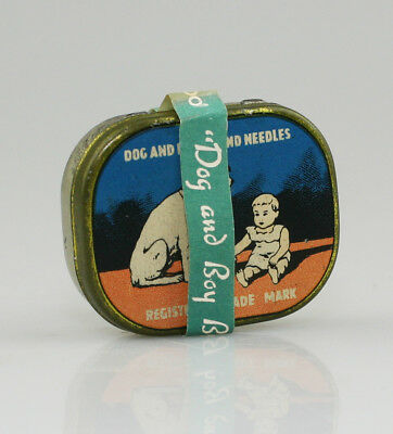 DOG & BOY Brand Needles Gramophone Needle Tin (NZ41)