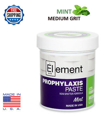 MEDIUM GRIT MINT Element Prophy Paste for Dental Prophylaxis - 170g (6 oz) Jar