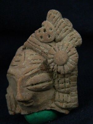 Ancient Teracotta Mother Goddess Head Indus Valley 600 BC  #TR8010