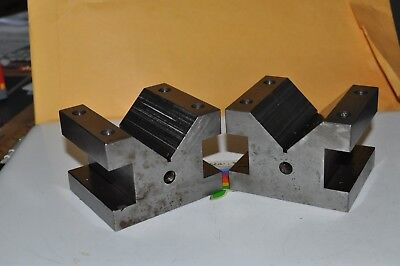 Large Pair of Machinist V-Blocks/ Reduced