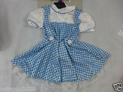 Halloween Toddler Costume Dorothy Of The Wizard Of Oz Sequins Lace 2-4  New