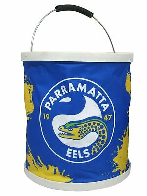 Parramatta Eels NRL 11 Litre Foldable Bucket With Carry Bag