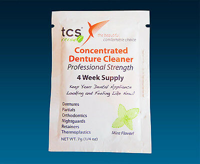 TCS Sample ~ Flexible Denture Appliance Cleaner Months Supply, 1, 2 or 4 Sachets