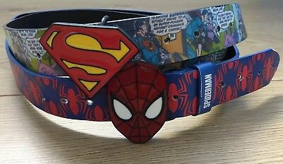 Boys Superhero Belts 7-13yrs in excellent condition.