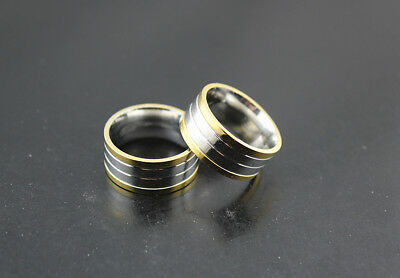 Job lots 28pcs Stainless steel Silver/Gold Band 12mm Width Top rings Jewelry