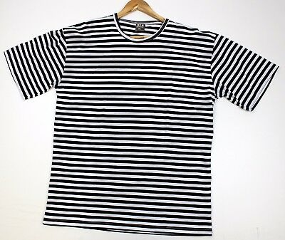 Russian Army / Navy Marines Telnyashka Navy Blue Striped T Shirt