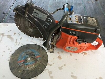 HUSQVARNA K760 PETROL CUT OFF SAW  DISC CUTTER 300mm Diamond BLADE plus SPARE