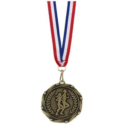 """Unisex Running Medals with Ribbons - Engraved FREE your message - Free P+P"""