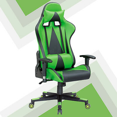 Sports Racing Gaming Deluxe Faux Leather Computer Lift Recliner Executive Chair