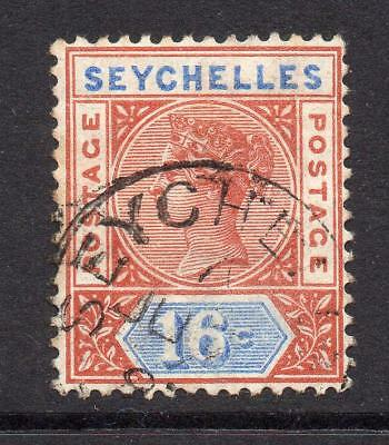 Seychelles 16 Cent Stamp c1892 Used