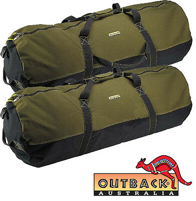 Outback Cabela Bag Heavy Duty Large Canvas Duffle Carry Travel Ultility Military