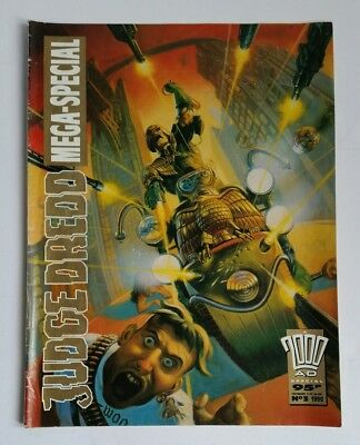 Judge Dredd Mega Special No 3 1990- Annual One Shot- Signed by Writer Alan Grant