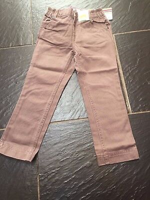 Vertbaudet Girls Brown/Pink Taupe Jeans Pink Stitching 3 4 5 6 Years New £12