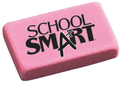 Pack of 36 Small Pink School Smart Beveled Erasers