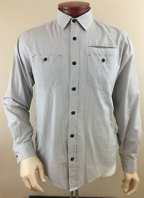 HOWLER BROTHERS Men's Huckberry Long Sleeve Button Front Vented Shirt Size M