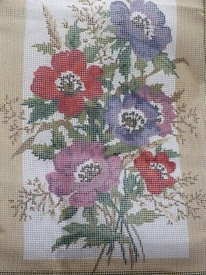 "'Anemones' Floral Printed Tapestry Canvas 9"" x 14"""