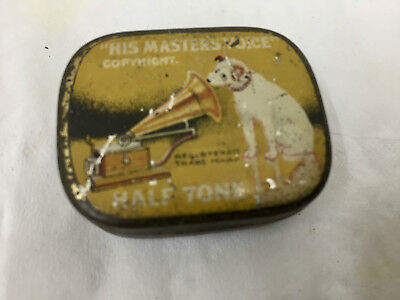 Vintage His Masters Voice Advertising Needle Tin