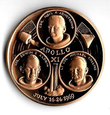 1969 - Apollo XI - Bronze Medal - Proof - Made in Canada - Large 37-mm