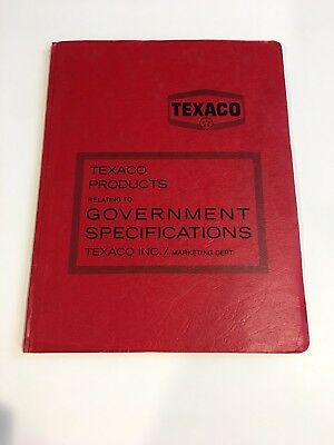 Texaco Products Government Specifications Marketing Department Documents