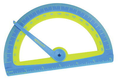Westcott Soft Touch Reliable Sturdy Kids Protractor with Microban Protection,...