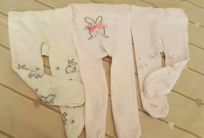 Next baby girls bunny tights 3-6mth