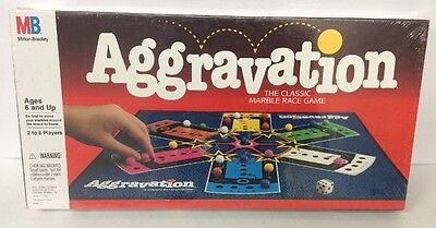 Vintage Aggravation Board Game New Factory Sealed Complete 1989 Milton Bradley