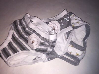 Toddlers Boys Burts Bees Kids Briefs 3pk White/Gray/Yellow Size 2T (NWOT)
