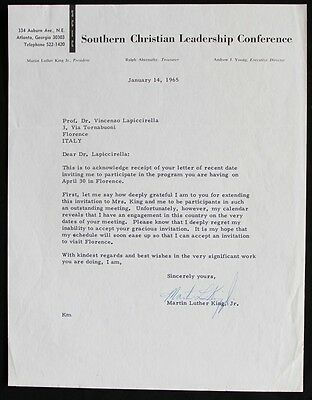 Martin Luther King, Jr., Typed Letter Signed, Atlanta, Georgia, January 14, 1965