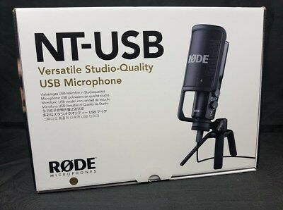 Rode NT-USB - USB Microphone With Pop Filter and Tripod  NEW SEALED