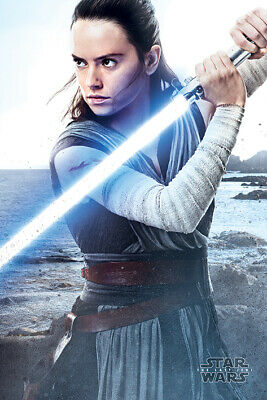 Star Wars: Episode Viii - The Last Jedi - Movie Poster (Rey With Lightsaber)
