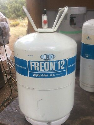 🚗Real R12 Freon Refrigerant 30 Lb- weight of can 39 lbs-sealed Old Stock ☃⚡️🌞