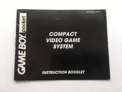 Nintendo Gameboy Pocket Instruction Booklet Manual